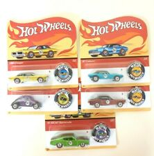 Hot Wheels 50th Anniversary Set & button Beetle Camaro Mustang Barracuda FTX83