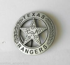US ARMY RANGER TEXAS RANGERS PEWTER COLORED LAPEL PIN  BADGE 1.75 INCHES