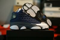 Nike Air Jordan 13 FLINT Grade School Navy Blue White | 884129-404 | GS 4Y-7Y
