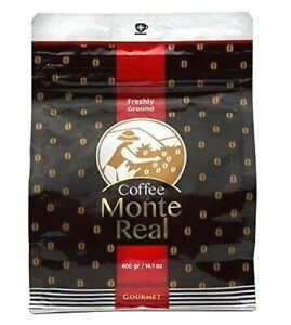 MONTE REAL ORGANIC DOMINICAN GROUNDED CAFE COFFEE 1 POUNDS 454 GRAMS BAG EUROPE