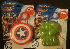 New Marvel Avengers Hulk and Captain America Mini Clip On Card Game Keychains