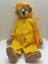 "Ganz Cottage Collectibles 22"" Teddy Bear Spencer By Sue Coe in Rain Gear   (P9)"