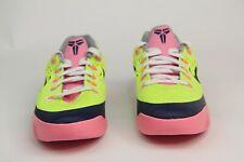 Nike Kobe IX EM Kids GS Volt Midnight Navy Pink Glow Wolf Gray 653593-701 SZ 4Y