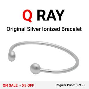 Q-Ray Standard Original Silver Ionized Wellness Bracelet - NEW IN BOX