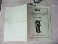HANG ON SEGA  arcade game manual