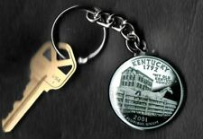 State of KENTUCKY Quarter Keychain Key Chain