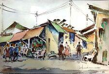 """""""Paris Flea Market"""" Marche aux Puces, Paris, France Watercolor Original Painting"""