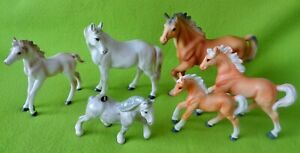 Lot (6) Porcelain China HORSE Figurines~HAGEN~RENAKER~ESD Japan~COLLECTIBLE~NR