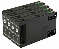 4 Black T7021 non-OEM Ink Cartridge For Epson Pro WP-4545DTWF WP-4595DNF