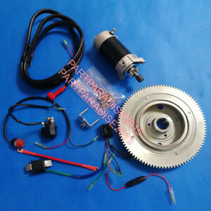 Yamaha 60hp Enduro 69D STARTER MOTOR  RELAY FLYWHEEL CHARGE COIL RECTIFIER COIL