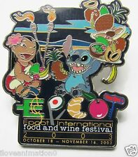 Disney  Food & Wine Festival Lilo & Stitch No Card Pin