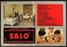 Fotobusta 1, Salo or The 120 Days of Sodom of M. de Sade P.P. Pasolini poster