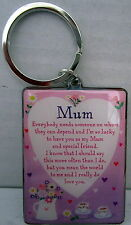 """""""MUM"""" KEYRING WITH INSPIRATIONAL LOVING VERSE SWEET MOTHER'S DAY/BIRTHDAY GIFT!"""