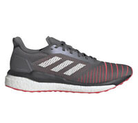 Adidas Boost Solar Drive Men's Size 12 Running Gym Shoes Grey Shock Red [D97450]