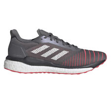 Adidas Boost Solar Drive Men's Size 10 Running Gym Shoes Grey Shock Red [D97450]