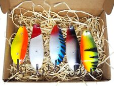 Weedless Fishing spoon,handmade in europe tackle, perch lure set,bass spinner