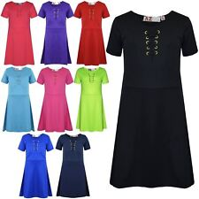 Girls Skater Dress Kids Party Fashion Stylish Laces Dresses New Age 7-13 Years