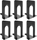 3 Pairs Metal nonskid Bookend Book Support Organizer Bookends Shelves Office