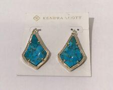 KENDRA SCOTT Alex Gold Plated Bronze Veined Blue Drop Earrings New