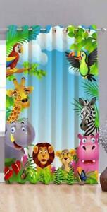 Polyester Door Curtain Cartoon Eyelet Kids Room 3D Digital Print 5 feet 1 pcs
