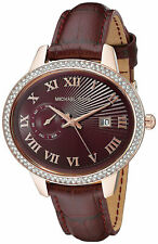 Michael Kors MK2430 Whitley Women's Analog Watch Red Leather Strap