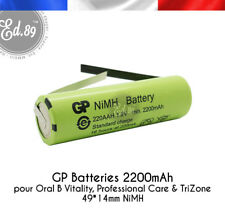 2200mAh Ersatz Akku GP Batteries Oral B Professional Care TriZone 3754 3756
