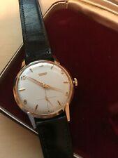 Gorgeous Rare Vintage 1959 Tissot 18kt Gold Watch Mens (original case/papers)