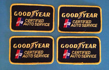 4 Lot Vintage 1970's Goodyear Tires Certified Auto Service Jacket Hat Patches A