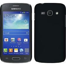 Hardcase Samsung Galaxy Ace 3 rubberized black Cover + protective foils