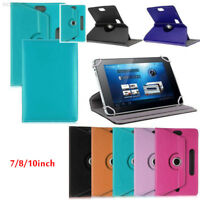 """D867 360° Rotating Universal Leather Stand Case Cover For 7""""-10"""" inch Tablet PC"""
