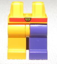 LEGO NEW ORANGE AND PURPLE JESTER MINIFIGURE LEGS PANTS
