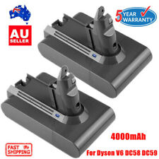 2X 4000mAh Vacuum Battery For Dyson V6 DC58 DC59 DC61 DC62 D72 HANDHELD CORDLESS