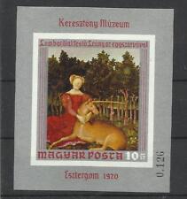 Hongrie Bloc Non Dentelé **MNH YT 83 Dame a la Licorne Magyar Ungary peinture