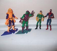 4 Marvel Comics Spiderman 4' action figures Goblin Doc boys toys kids play set