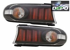 TOYOTA FJ CRUISER 2007-2014 BLACK PARK TURN SIGNAL LIGHTS LAMPS BLACK PAIR NEW
