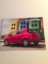 2014 Toyota Yaris 12-page Accessories Original Sales Brochure