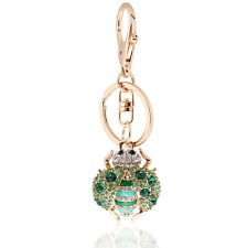 Handbag Buckle Charms Accessories Crystal Green Ladybird Keyrings Key Chains HK2
