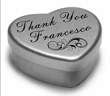 Say Thank You Francesco With A Mini Heart Tin Gift Present with Chocolates
