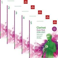 ABRSM Clarinet Exam Pieces 2018-2021 Combined Pack Options: Grade 1,2,3,4,5