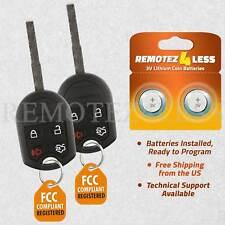 2 For 2015 2016 2017 Ford Fiesta Keyless Entry Remote Car Key Fob Fits Ford