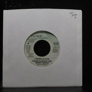 """Dionne Warwick & Johnny Mathis - Friends In Love 7"""" VG+ Promo Arista AS 0673"""