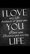 I love my life Quote Home decor wall cloth high quality Canvas print art gift