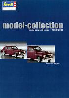 Revell Modellauto metal model cars trucks Katalog D GB F NL  2000 2001 Prospekt