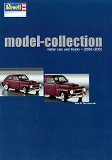 Katalog D GB F NL Revell Modellauto metal model cars trucks  2000 2001 Prospekt