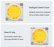 High Power COB DEL Chip 18 W directement 230 V Blanc Chaud Alimentation pas nécessaire