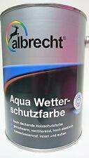 (11,20€/L)albrecht Aqua Wetterschutz Farbe Holz Schutz deckend 2,5L
