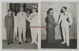 Vintage 1930s Aviation Wiley Post w/Roosevelt Round the World Flight Photos (3)