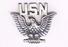 Vintage USN Eagle pin US Navy silver filled Vanguard   pin