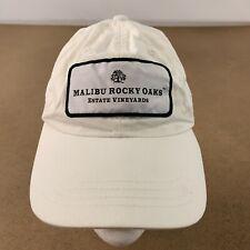 Malibu Rocky Oats Estate Vineyards Adult One Size White Canvas Strap Back Hat