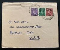 1930s Tripolitania British Agencies Cover To Waterloo IA USA BMA Overprints